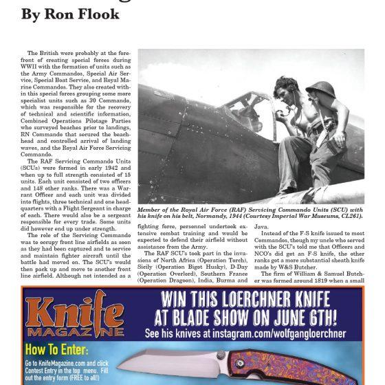 Royal Air Force Servicing Commando Knife