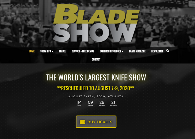 Blade Show 2020 Reschedules
