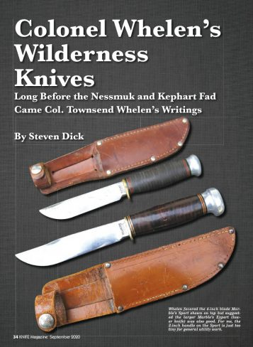 Whelen's Wilderness Knives