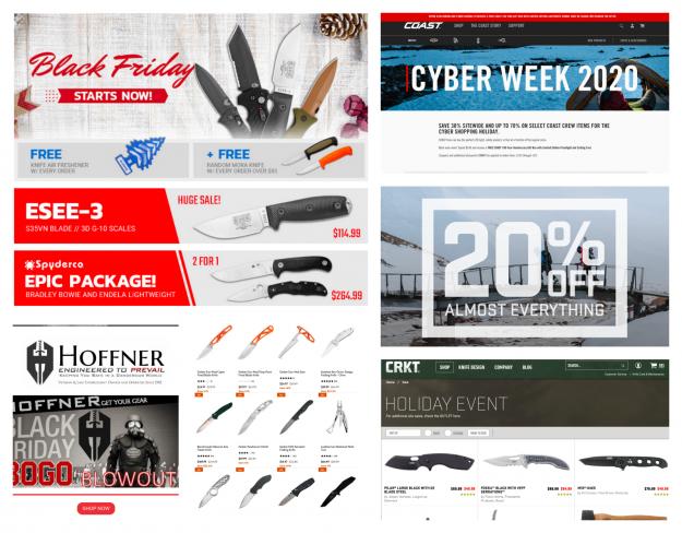 Black Friday Cyber Monday Knives